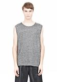 T by ALEXANDER WANG HEATHER LINEN MUSCLE TANK TEE Adult 8_n_e