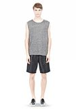 T by ALEXANDER WANG HEATHER LINEN MUSCLE TANK TEE Adult 8_n_f