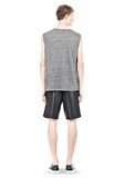 T by ALEXANDER WANG HEATHER LINEN MUSCLE TANK TEE Adult 8_n_r