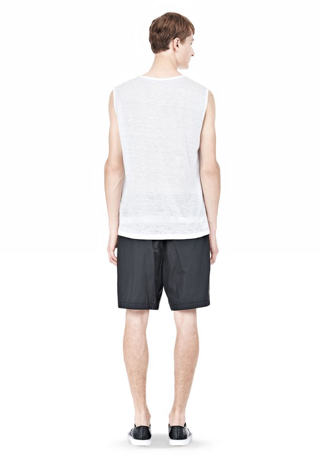 T by ALEXANDER WANG LINEN SILK MUSCLE TANK TEE Adult 12_n_r