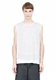 T by ALEXANDER WANG LINEN SILK MUSCLE TANK TEE Adult 8_n_e