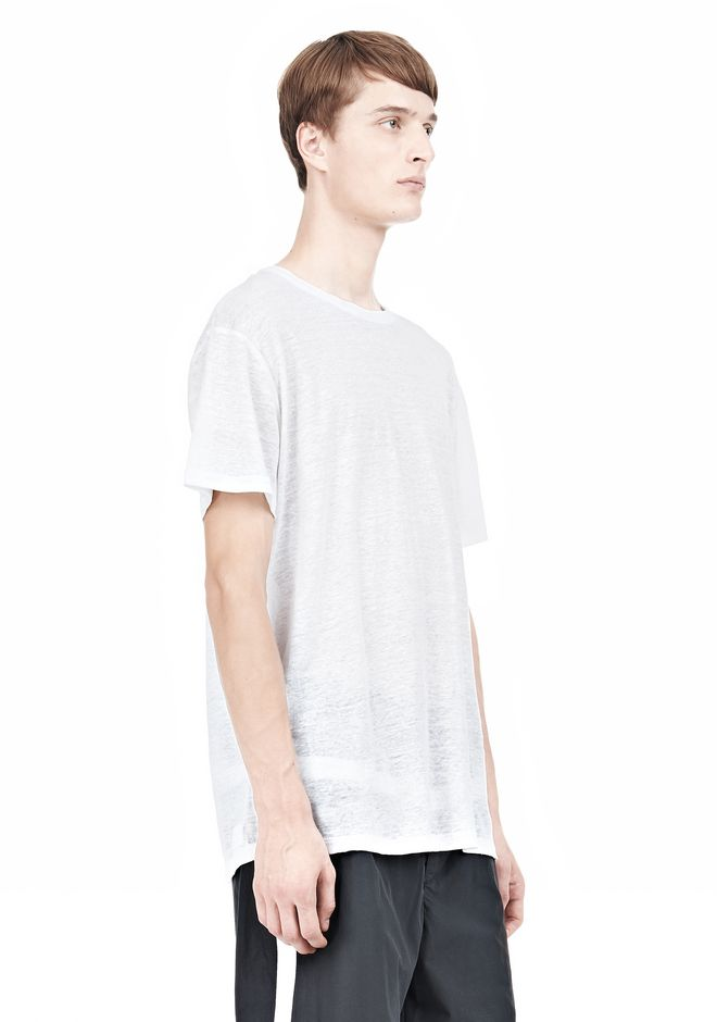 T by ALEXANDER WANG LINEN SILK SHORT SLEEVE TEE Short sleeve t-shirt Adult 12_n_a