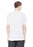 T by ALEXANDER WANG LINEN SILK SHORT SLEEVE TEE Short sleeve t-shirt Adult 8_n_d