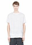 T by ALEXANDER WANG LINEN SILK SHORT SLEEVE TEE Short sleeve t-shirt Adult 8_n_e