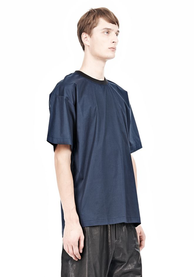 T by ALEXANDER WANG COTTON POPLIN SHORT SLEEVE TEE Short sleeve t-shirt Adult 12_n_a