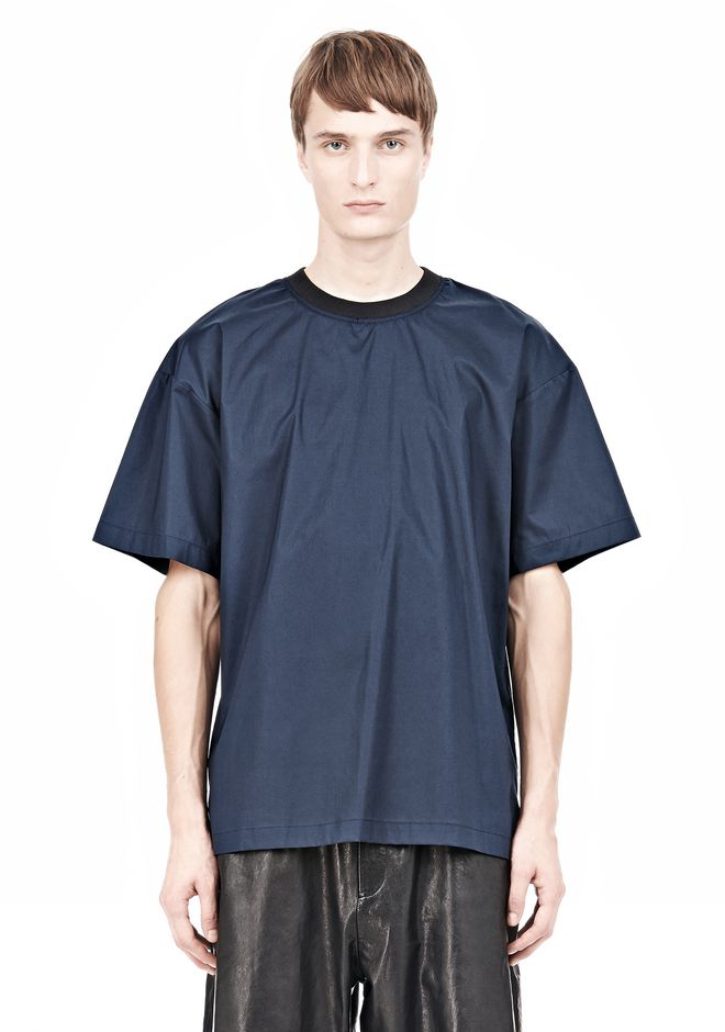 T by ALEXANDER WANG COTTON POPLIN SHORT SLEEVE TEE Short sleeve t-shirt Adult 12_n_e