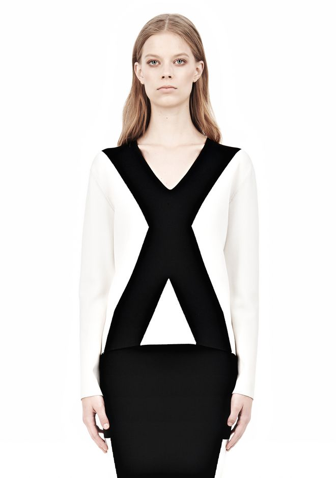 ALEXANDER WANG GRAPHIC BLOCK PULLOVER TOP Adult 12_n_e