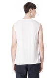 T by ALEXANDER WANG PIGMENT DYED COTTON JERSEY SILK NECK TRIM MUSCLE T TOP Adult 8_n_d