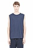 T by ALEXANDER WANG PIGMENT DYED COTTON JERSEY SILK NECK TRIM MUSCLE T TOP Adult 8_n_e