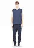 T by ALEXANDER WANG PIGMENT DYED COTTON JERSEY SILK NECK TRIM MUSCLE T TOP Adult 8_n_f