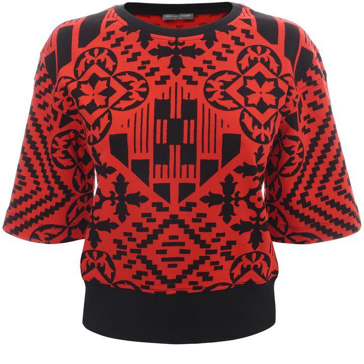 Alexander McQueen, Patchwork Wide Sleeve Sweatshirt