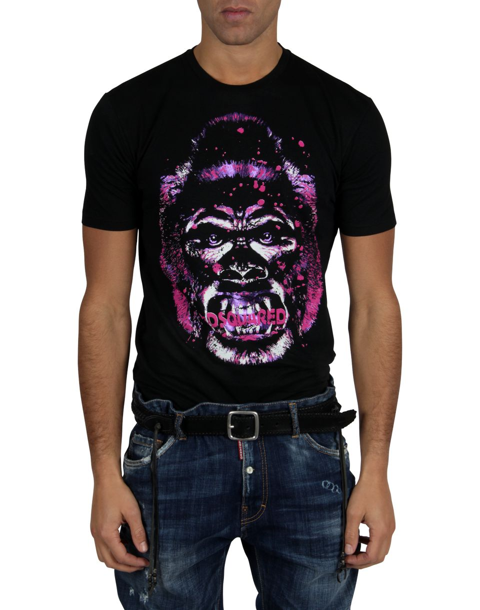 dsquared gorilla t shirt dsquared2 uk. Black Bedroom Furniture Sets. Home Design Ideas