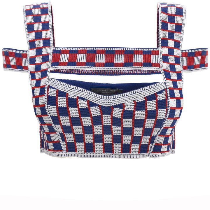 Alexander McQueen, Graphic Jacquard Knit Harness Bra