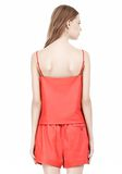 T by ALEXANDER WANG LEATHER SQUARE NECK CAMISOLE TOP Adult 8_n_d