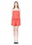 T by ALEXANDER WANG LEATHER SQUARE NECK CAMISOLE TOP Adult 8_n_f