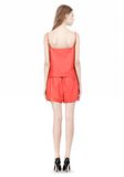 T by ALEXANDER WANG LEATHER SQUARE NECK CAMISOLE TOP Adult 8_n_r