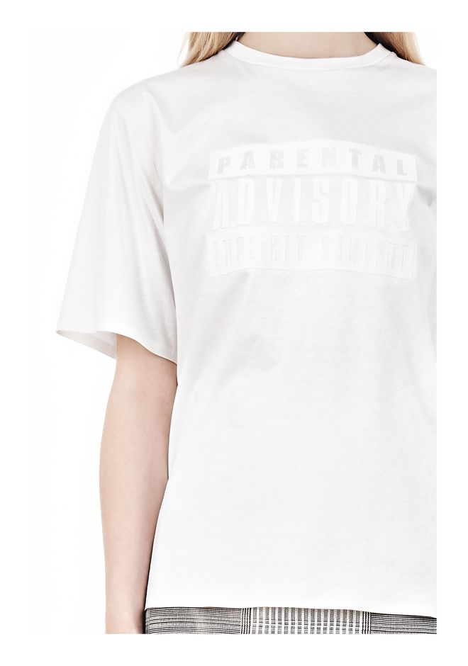 ALEXANDER WANG PARENTAL ADVISORY CREWNECK T-SHIRT Short sleeve t-shirt Adult 12_n_a