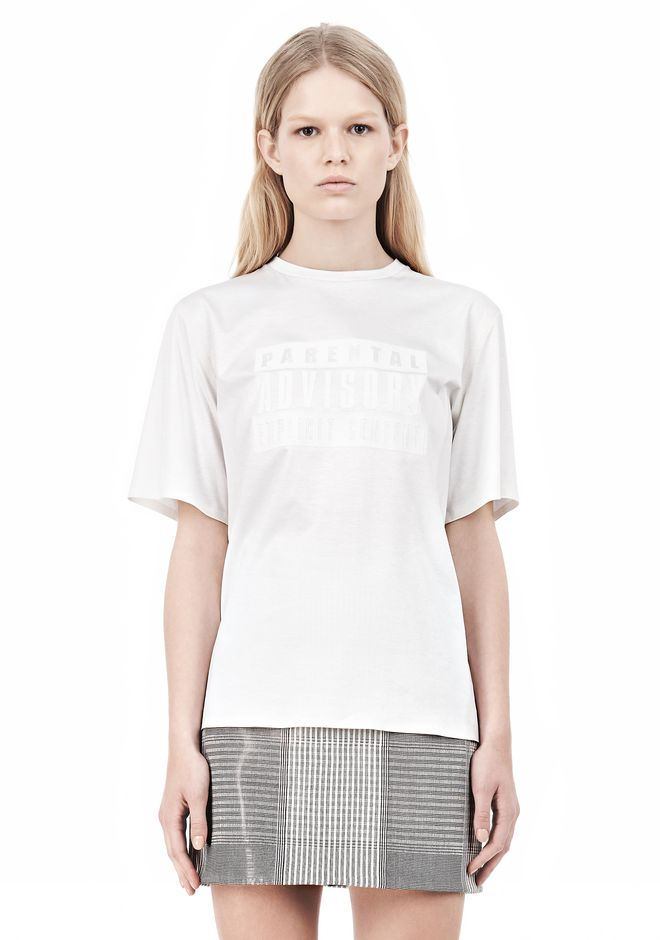 ALEXANDER WANG PARENTAL ADVISORY CREWNECK T-SHIRT Short sleeve t-shirt Adult 12_n_e