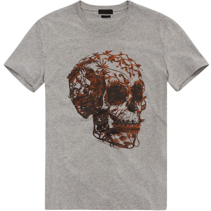 Alexander McQueen, Floral Skull Print T-Shirt