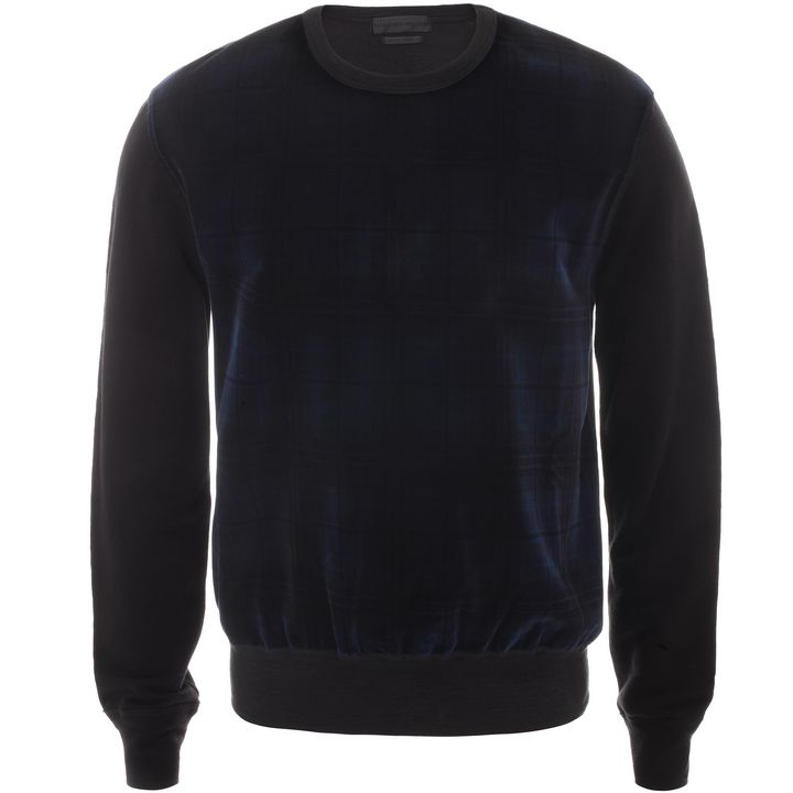 Alexander McQueen, Sweat-shirt en velours à carreaux