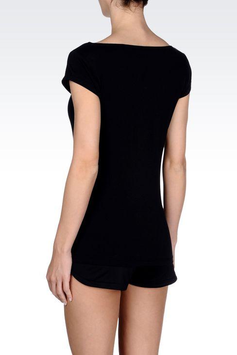 T-shirts and sweatshirts: Short sleeved t-shirts Women by Armani - 3