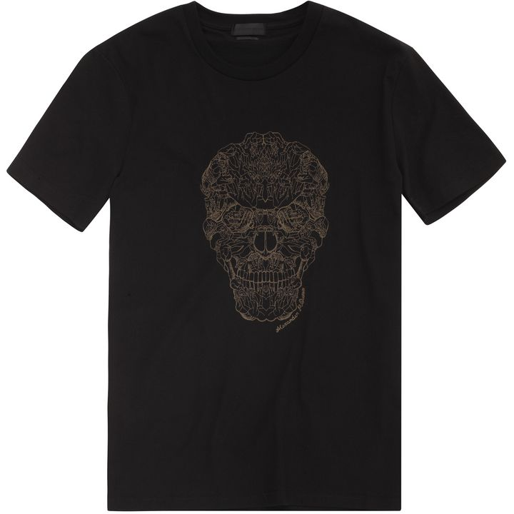 Alexander McQueen, Hands Skull Embroidered T-Shirt