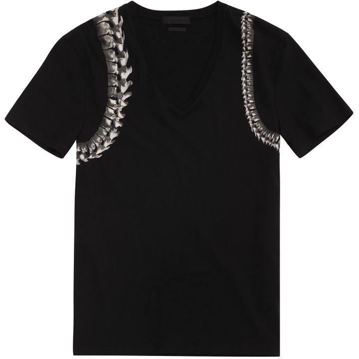 Alexander McQueen, Spine Harness V-Neck T-Shirt