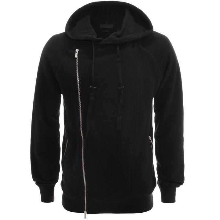 Alexander McQueen, Asymmetric Zip-Up Hooded Sweatshirt