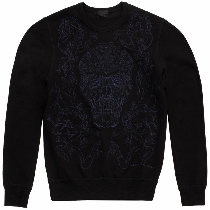 Alexander McQueen, Skull Embroidered Sweatshirt