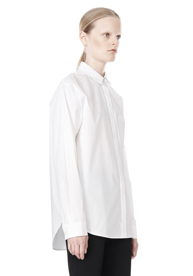 T by ALEXANDER WANG LONG SLEEVE SHIRT WITH CHEST POCKET SHIRT Adult 12_n_a
