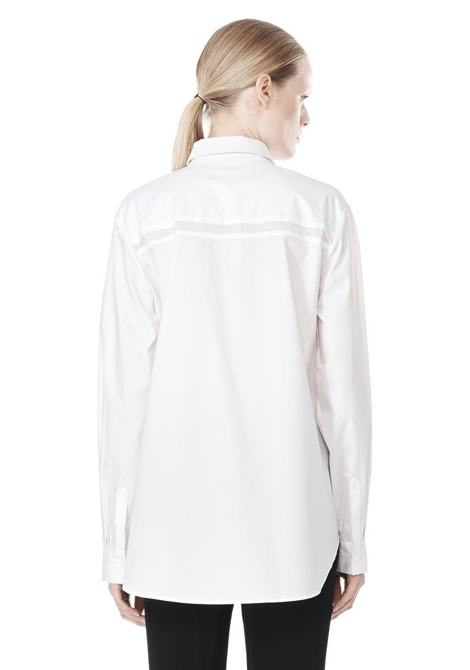 T by ALEXANDER WANG LONG SLEEVE SHIRT WITH CHEST POCKET SHIRT Adult 12_n_d