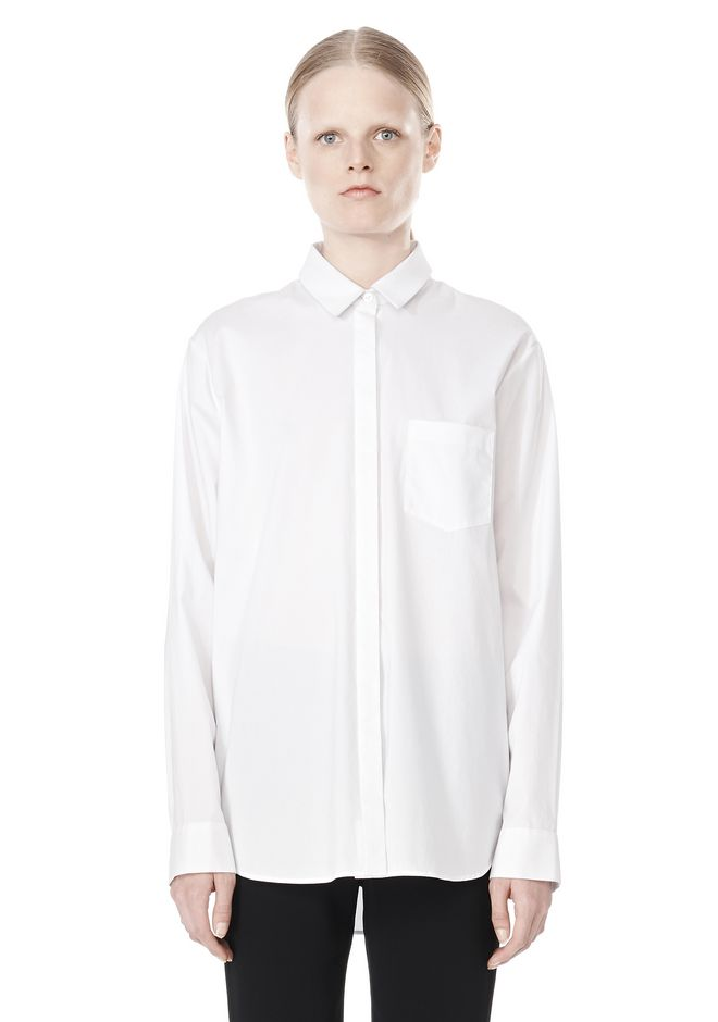 T by ALEXANDER WANG LONG SLEEVE SHIRT WITH CHEST POCKET SHIRT Adult 12_n_e