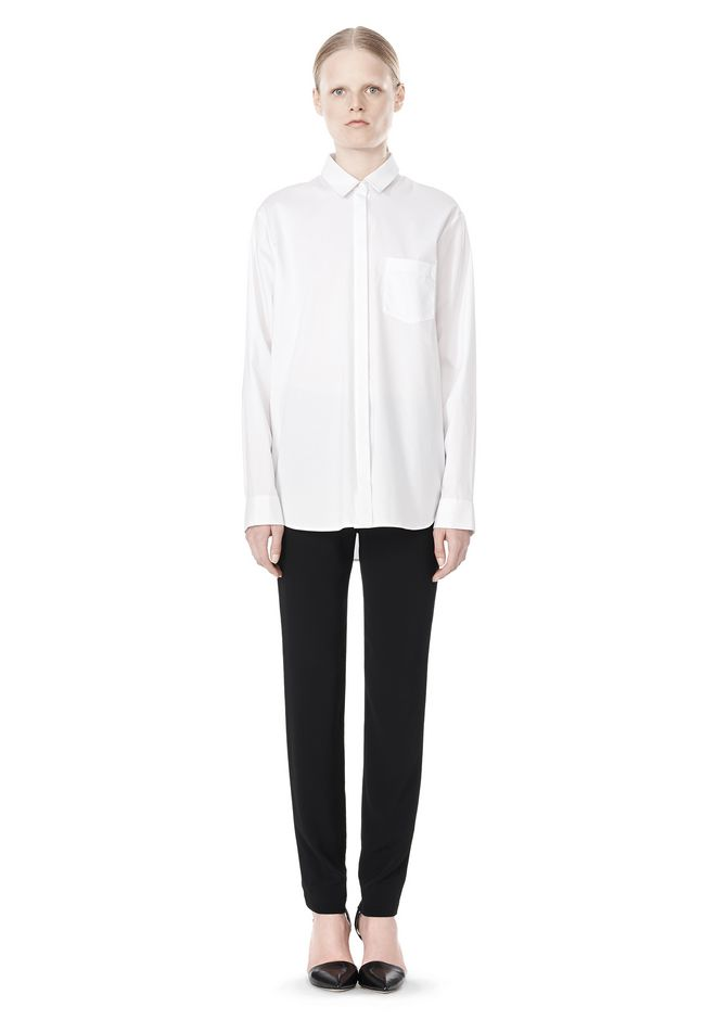 T by ALEXANDER WANG LONG SLEEVE SHIRT WITH CHEST POCKET SHIRT Adult 12_n_f