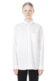 T by ALEXANDER WANG LONG SLEEVE SHIRT WITH CHEST POCKET SHIRT Adult 8_n_e
