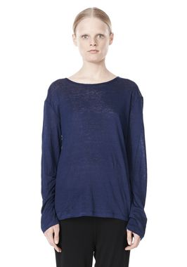 LINEN SILK JERSEY LONG SLEEVE TEE