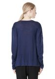 T by ALEXANDER WANG LINEN SILK JERSEY LONG SLEEVE TEE TOP Adult 8_n_d
