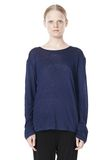 T by ALEXANDER WANG LINEN SILK JERSEY LONG SLEEVE TEE TOP Adult 8_n_e