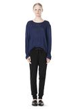 T by ALEXANDER WANG LINEN SILK JERSEY LONG SLEEVE TEE TOP Adult 8_n_f