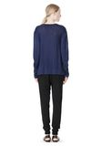 T by ALEXANDER WANG LINEN SILK JERSEY LONG SLEEVE TEE TOP Adult 8_n_r