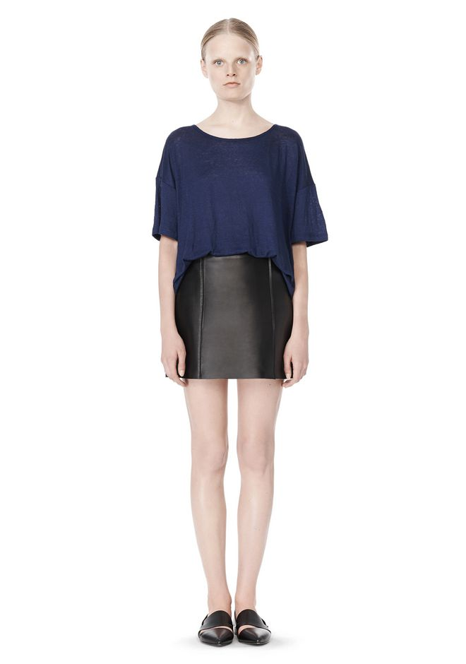 T by ALEXANDER WANG LINEN SILK JERSEY OVERSIZED TEE TOP Adult 12_n_f