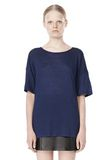 T by ALEXANDER WANG LINEN SILK JERSEY OVERSIZED TEE TOP Adult 8_n_e