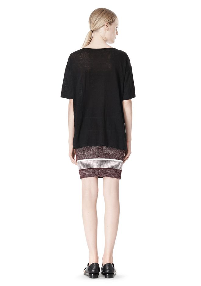T by ALEXANDER WANG LINEN SILK JERSEY OVERSIZED TEE TOP Adult 12_n_r