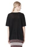 T by ALEXANDER WANG LINEN SILK JERSEY OVERSIZED TEE TOP Adult 8_n_d