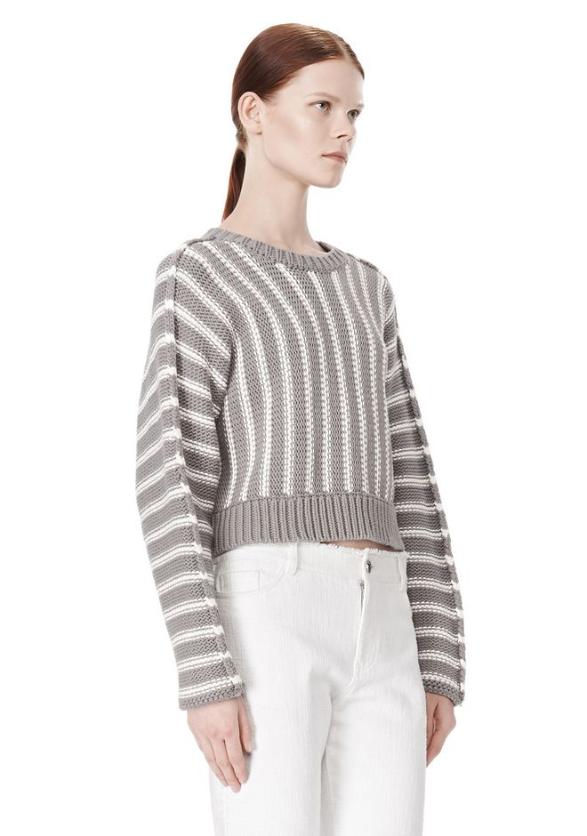 T by ALEXANDER WANG DOLMAN LONG SLEEVE PULLOVER Crewneck Adult 12_n_a