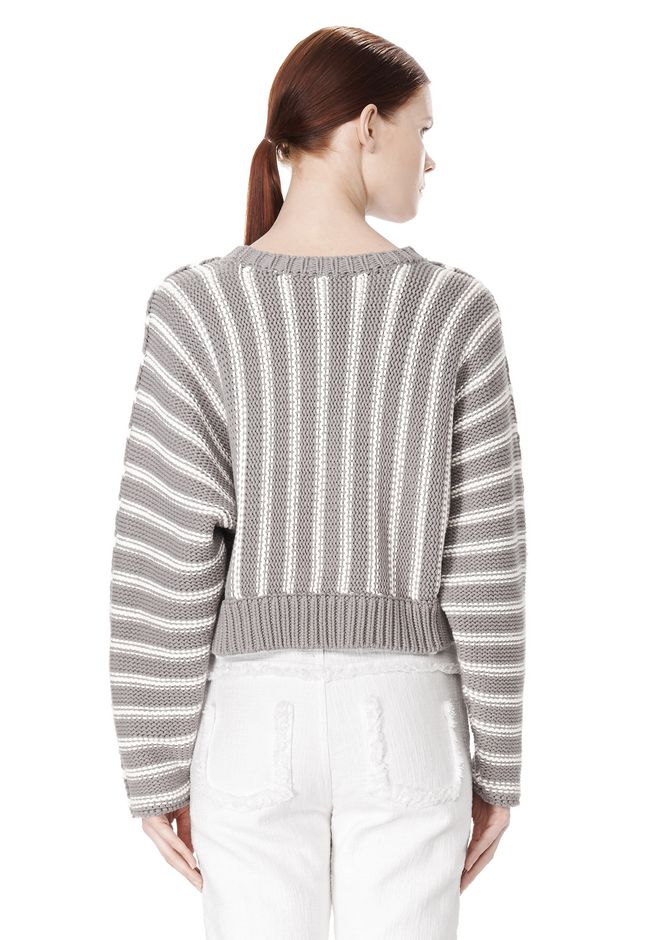 T by ALEXANDER WANG DOLMAN LONG SLEEVE PULLOVER Crewneck Adult 12_n_d