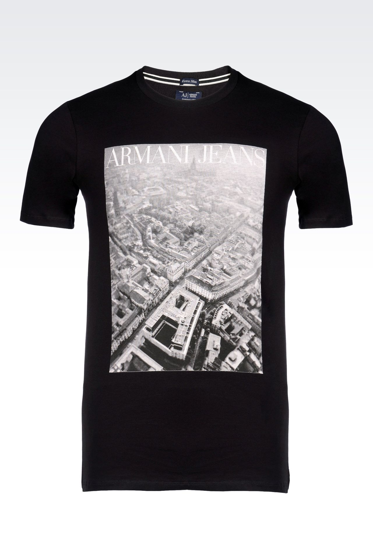 armani jeans men t shirt in stretch cotton jersey cotton. Black Bedroom Furniture Sets. Home Design Ideas