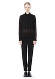 T by ALEXANDER WANG FRAYED SILK CHIFFON LONG SLEEVE SHIRT Shirt Adult 8_n_f