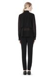 T by ALEXANDER WANG FRAYED SILK CHIFFON LONG SLEEVE SHIRT Shirt Adult 8_n_r