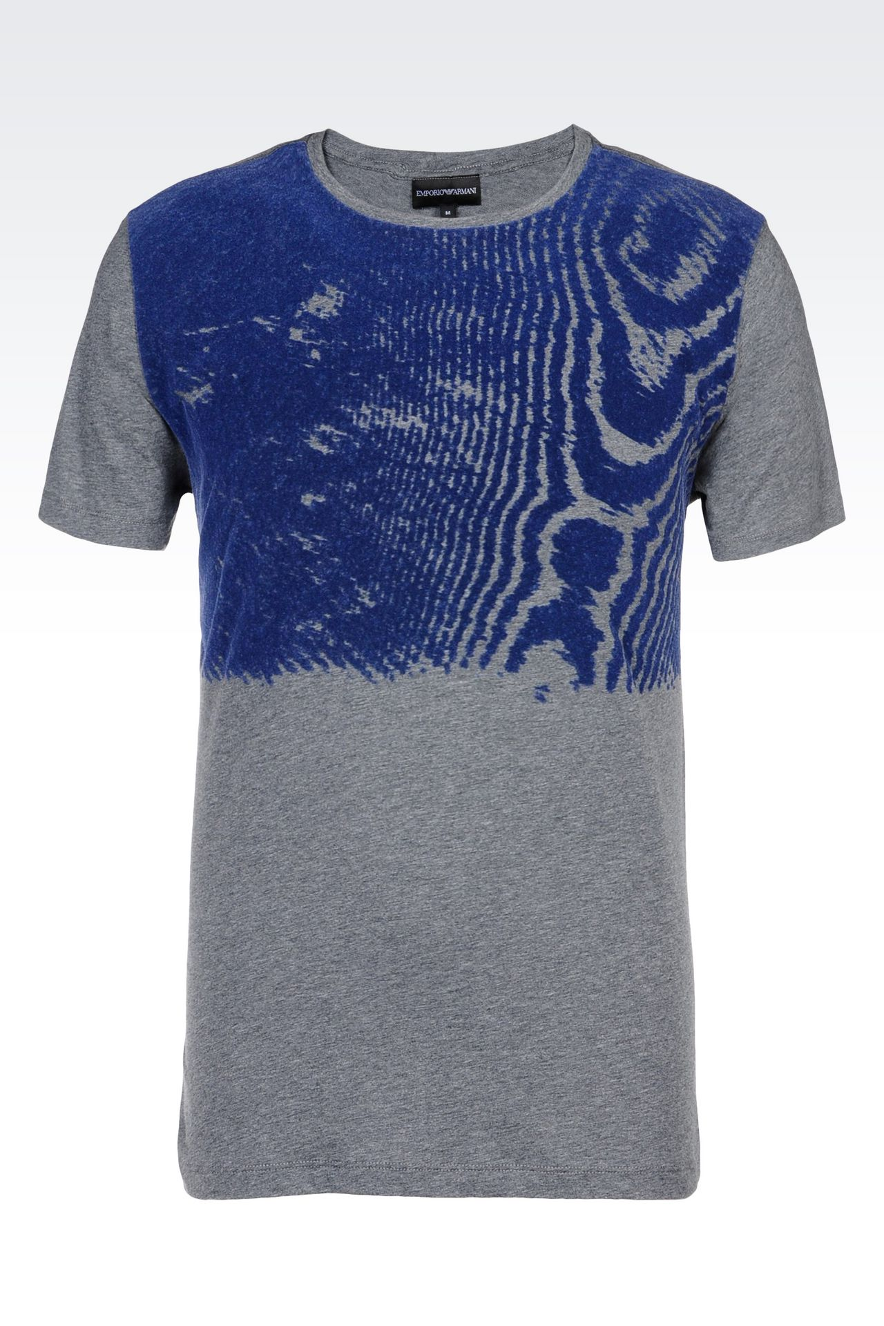 emporio armani men cotton t shirt with flock print. Black Bedroom Furniture Sets. Home Design Ideas