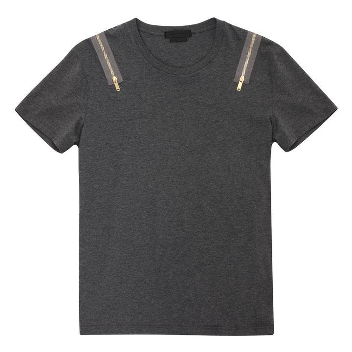 Alexander McQueen, Zip Shoulder Detail T-Shirt